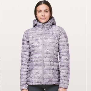 Lululemon Pack It Down Again Jacket Hooded Purple